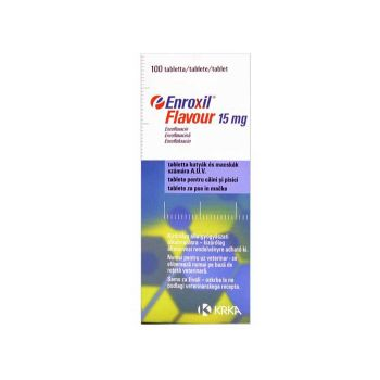 Antibiotic Enroxil Flavour 15 mg - 10 comprimate pisici