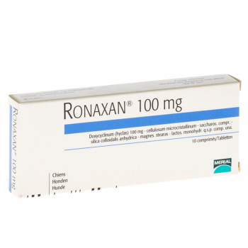 Antibiotic Ronaxan 100 mg 10 tablete pisici