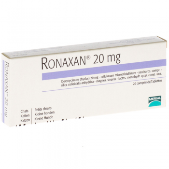 Antibiotic Ronaxan 20 mg 20 tablete pisici