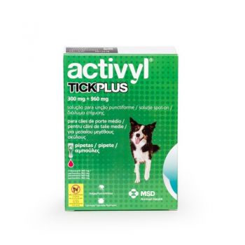 Activyl Tick Plus M 300 mg (10 - 20kg), 4 pipete