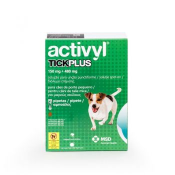 Activyl Tick Plus Sm 150 mg (5 - 10 kg), 4 pipete