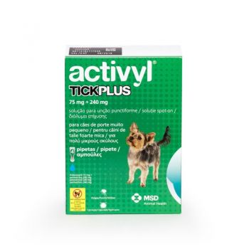 Activyl Tick Plus Toy Dog 75 mg (0 - 5 kg), 4 pipete