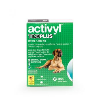 Activyl Tick Plus XL 900 mg (40 - 60 kg), 4 pipete