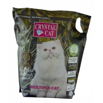 CRYSTAL CAT NISIP SILICATIC ALOE 7.6 L