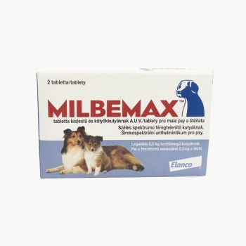 Milbemax Dog 2.5 / 25 mg (< 5 kg), 2 tablete