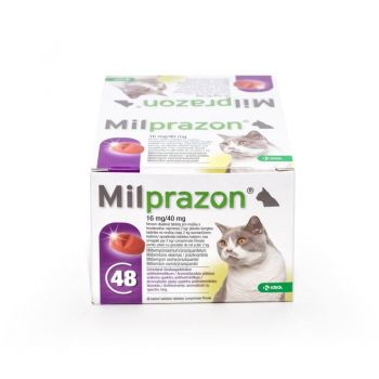 Milprazon Cat 16 / 40 mg (2 - 8 kg), 48 tablete