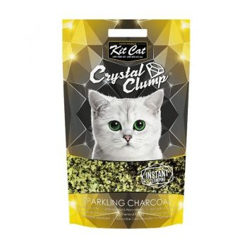 Kit Cat Crystal Clump Sparkling Charcoal, 4 l