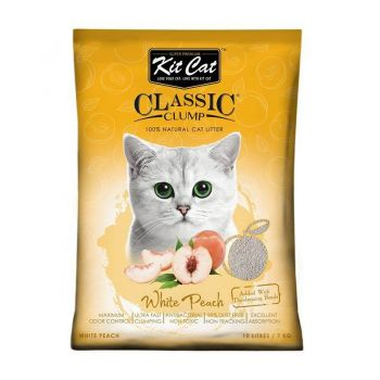 Kit Cat Classic Clump White Peach, 10 l