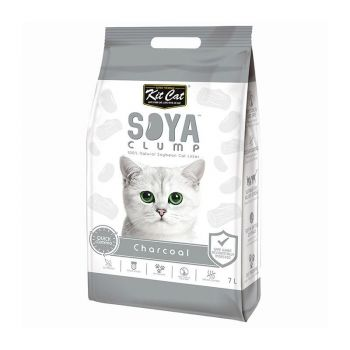 Kit Cat Soya Clump Charcoal, 7 l