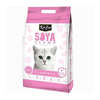 Kit Cat Soya Clump Strawberry, 7 l