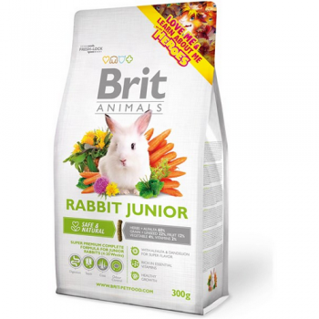 Hrana Brit Animals Iepure Junior 300g rozatoare