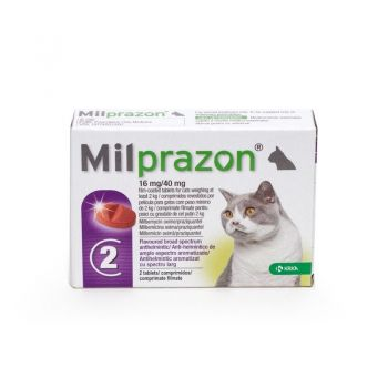 Milprazon Cat 16 / 40 mg (2 - 8 kg), 2 tablete