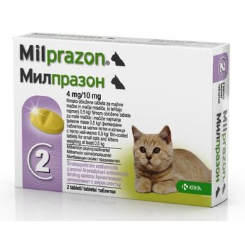 Milprazon Cat 4 / 10 mg (< 2 kg), 2 tablete