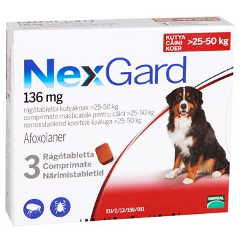 NEXGARD XL DOG - 3 cpr masticabile (25-50 kg) caini