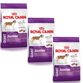 Hrana uscata 3 X Royal Canin Giant Junior 15 Kg caini