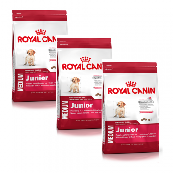 Hrana uscata 3 X Royal Canin Medium Junior 15 kg caini