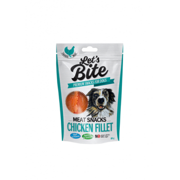 BRIT Let's Bite Meat Snacks file de pui 80 g