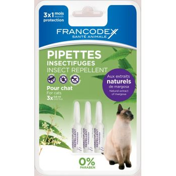 Francodex Pipeta Antiparazitara Pisica 0.6ml x3buc/blister