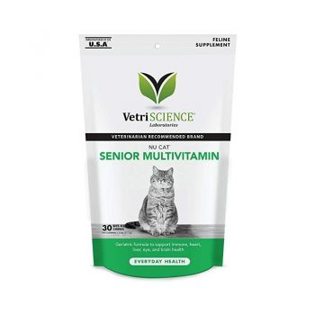Nu-Cat Senior Multivitamin Bite-sized Chew, 30 tablete